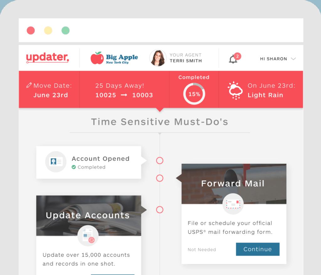 updater dashboard screenshot